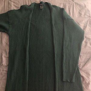 dark green cardigan